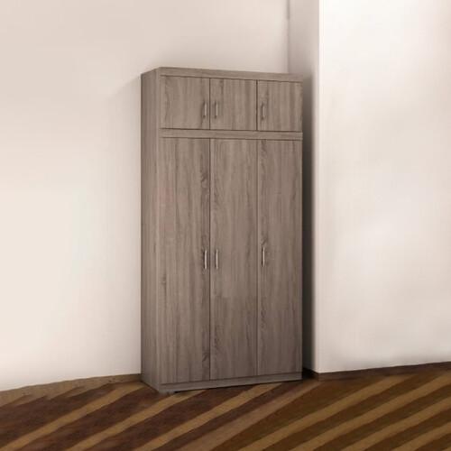 3+3 Doors Wardrobe KF9227T-6D (Cappucino Brown)