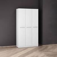 3 Doors Melamine Wardrobe L-W3D (White)