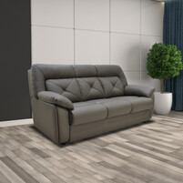 Half Genuine Leather 3 Seater Sofa 153