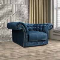 Fabric Chesterfield 1 Seater Sofa BIRMINGHAM