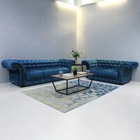 Fabric Chesterfield Sofa Set BIRMINGHAM