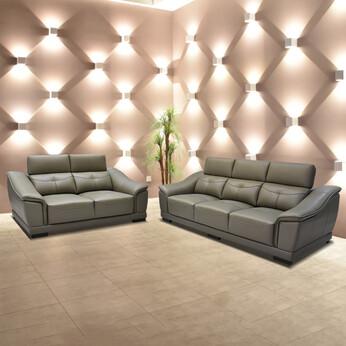 Half Thick Genuine Leather Sofa Set 181
