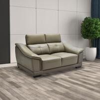 Half Thick Genuine Leather 2 Seater Sofa 181