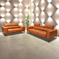 Half Thick Genuine Leather Sofa Set 179