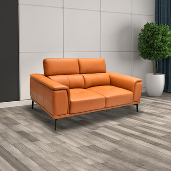 Half Thick Genuine Leather 2 Seater Sofa 179