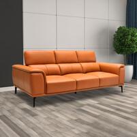 Half Thick Genuine Leather 3 Seater Sofa 179