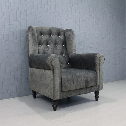 Fabric Wing Chair NORWICH