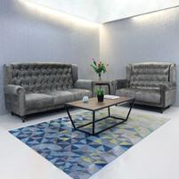 Fabric Chesterfield Sofa Set NORWICH