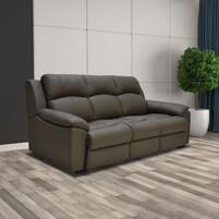 Half Genuine Leather 3 Seater Sofa 159