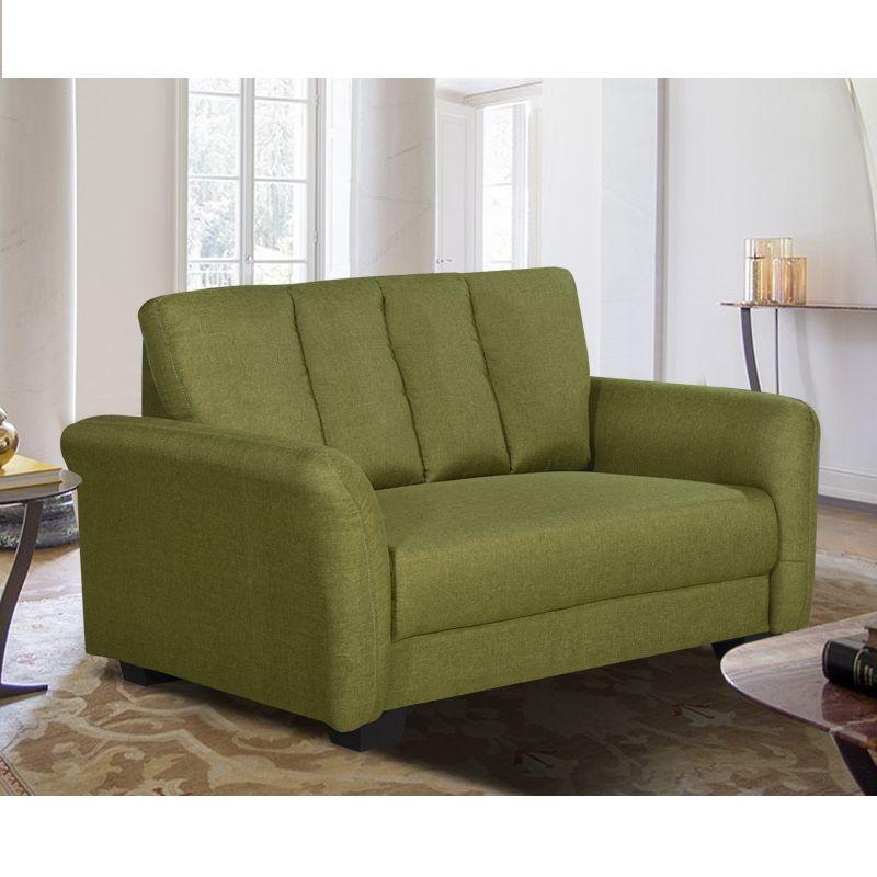 Alexandra 2 Seaters Water Repellent Fabric Sofa (Green)